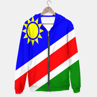 Thumbnail image of Flag of Namibia Cotton zip up hoodie, Live Heroes