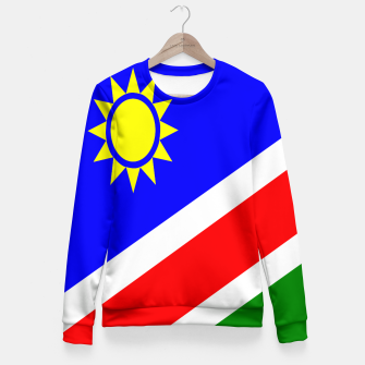 Thumbnail image of Flag of Namibia Woman cotton sweater, Live Heroes