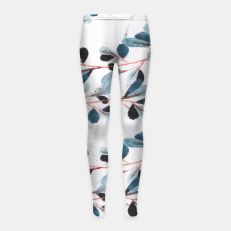 Thumbnail image of Botanical Lines Girl's leggings, Live Heroes