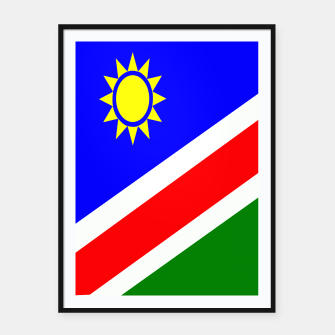 Thumbnail image of Flag of Namibia Framed poster, Live Heroes