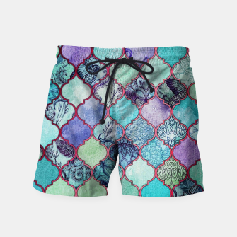 Thumbnail image of V33 BOHO Traditional Moroccan Design Swim Shorts, Live Heroes