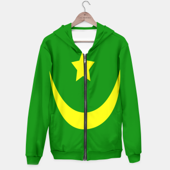 Thumbnail image of Flag of Mauritania Cotton zip up hoodie, Live Heroes