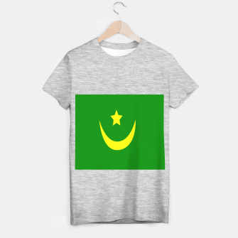 Thumbnail image of Flag of Mauritania T-shirt regular, Live Heroes