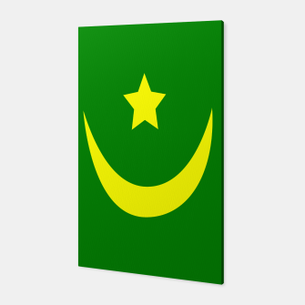 Thumbnail image of Flag of Mauritania Canvas, Live Heroes