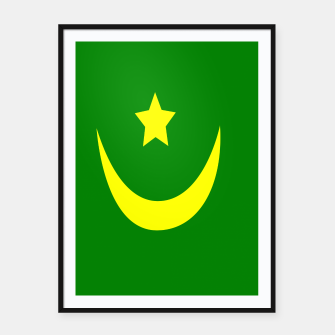 Thumbnail image of Flag of Mauritania Framed poster, Live Heroes