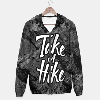 Thumbnail image of Take A Hike Cotton zip up hoodie, Live Heroes