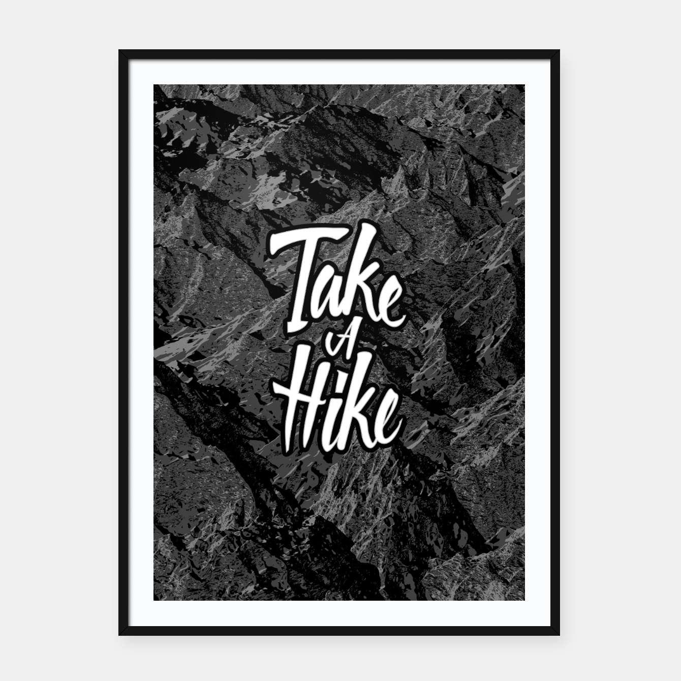 Image of Take A Hike Framed poster - Live Heroes