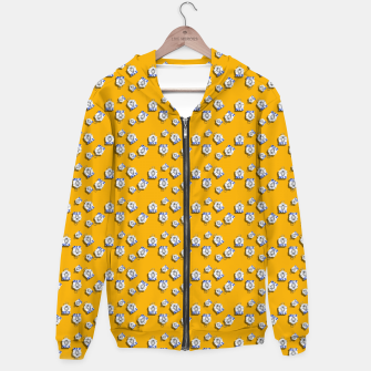 Thumbnail image of No Simple Yellow Cotton zip up hoodie, Live Heroes