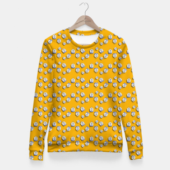 Thumbnail image of No Simple Yellow Woman cotton sweater, Live Heroes