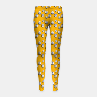 Thumbnail image of No Simple Yellow Girl's leggings, Live Heroes