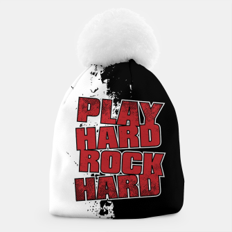 Thumbnail image of Play Hard Rock Hard Beanie, Live Heroes