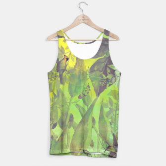 Miniaturka Flowers and birds green #flowers Tank Top, Live Heroes