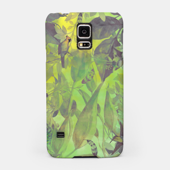 Miniaturka Flowers and birds green #flowers Obudowa na Samsunga, Live Heroes