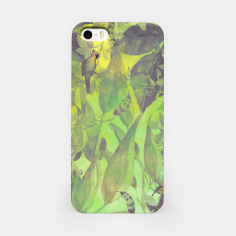Thumbnail image of Flowers and birds green #flowers Obudowa iPhone, Live Heroes