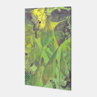 Miniaturka Flowers and birds green #flowers Canvas, Live Heroes
