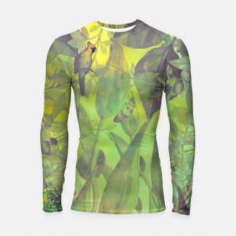 Thumbnail image of Flowers and birds green #flowers Rashguard długi rękaw, Live Heroes