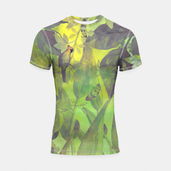 Miniaturka Flowers and birds green #flowers Rashguard krótki rękaw, Live Heroes