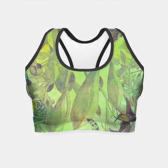 Imagen en miniatura de Flowers and birds green #flowers Crop Top, Live Heroes