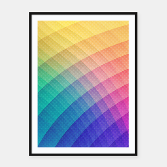 Spectrum Bomb! Fruity Fresh (HDR Rainbow Colorful Experimental Pattern) Framed poster miniature