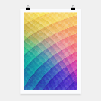 Spectrum Bomb! Fruity Fresh (HDR Rainbow Colorful Experimental Pattern) Poster miniature