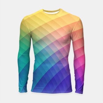 Spectrum Bomb! Fruity Fresh (HDR Rainbow Colorful Experimental Pattern) Longsleeve rashguard  miniature