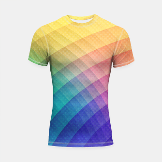 Spectrum Bomb! Fruity Fresh (HDR Rainbow Colorful Experimental Pattern) Shortsleeve rashguard miniature