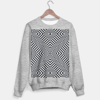 Miniature de image de Minimal Geometrical Optical Illusion Style Pattern in Black & White Sweater regular, Live Heroes