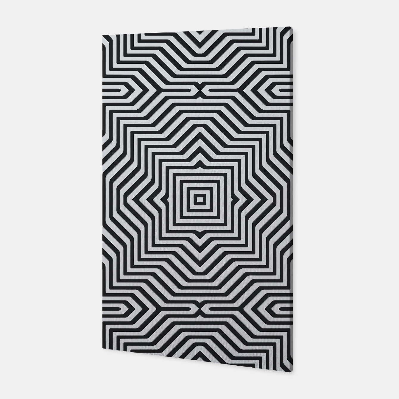 Image de Minimal Geometrical Optical Illusion Style Pattern in Black & White Canvas - Live Heroes
