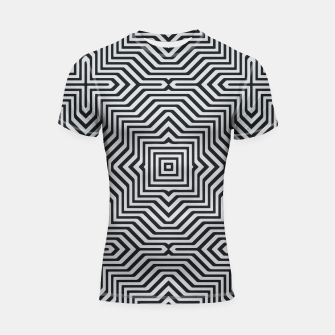 Miniature de image de Minimal Geometrical Optical Illusion Style Pattern in Black & White Shortsleeve rashguard, Live Heroes