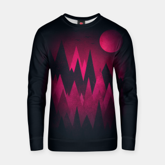 Thumbnail image of Dark Triangles (Peak Woods) Abstract Grunge Mountains Design (red/black) Cotton sweater, Live Heroes