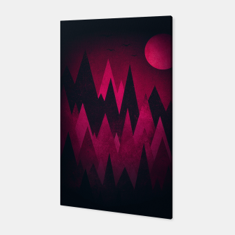 Thumbnail image of Dark Triangles (Peak Woods) Abstract Grunge Mountains Design (red/black) Canvas, Live Heroes