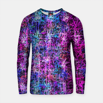 Thumbnail image of psychedelic abstract art pattern texture background in pink blue black Cotton sweater, Live Heroes