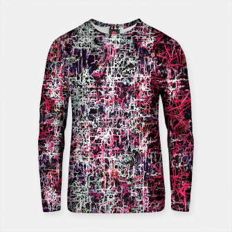 Thumbnail image of psychedelic abstract art pattern texture background in red pink black Cotton sweater, Live Heroes