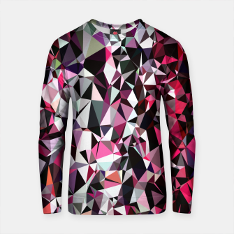 Thumbnail image of geometric triangle polygon pattern abstract in red pink black Cotton sweater, Live Heroes