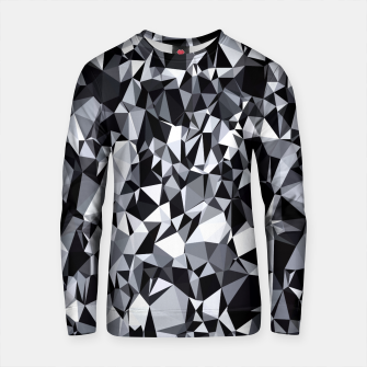 Thumbnail image of geometric triangle polygon pattern abstract in black and white Cotton sweater, Live Heroes