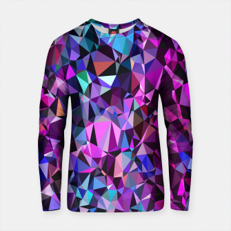 Thumbnail image of geometric triangle polygon pattern abstract in pink blue black Cotton sweater, Live Heroes