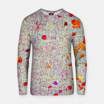 Thumbnail image of psychedelic abstract art texture background in orange pink red Cotton sweater, Live Heroes