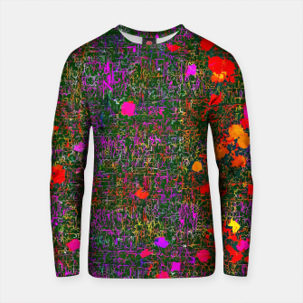 Thumbnail image of psychedelic abstract art texture background in purple red orange pink Cotton sweater, Live Heroes