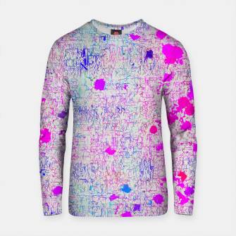 Thumbnail image of psychedelic abstract art texture background in pink purple blue Cotton sweater, Live Heroes