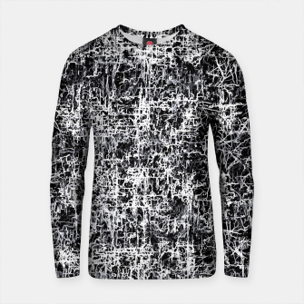 Thumbnail image of psychedelic abstract art texture background in black and white Cotton sweater, Live Heroes