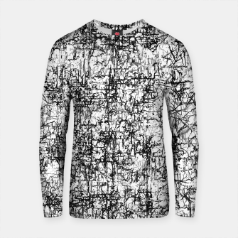 Thumbnail image of psychedelic abstract art texture in black and white Cotton sweater, Live Heroes