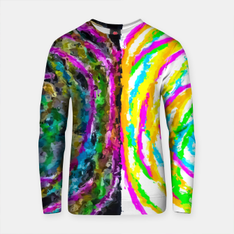 Thumbnail image of colorful circle pattern drawing abstract with black and white background Cotton sweater, Live Heroes