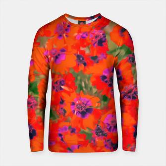 Thumbnail image of blooming red flower with green leaf background Cotton sweater, Live Heroes