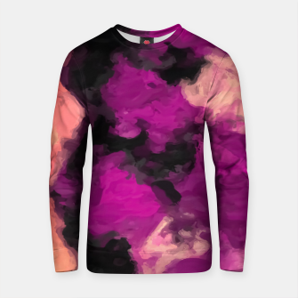 Miniature de image de psychedelic splash painting abstract texture in pink purple black Cotton sweater, Live Heroes