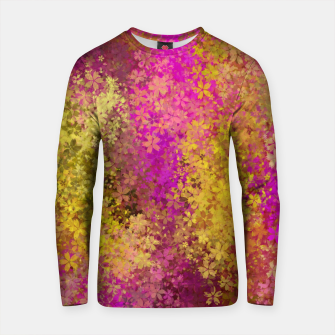Miniature de image de flower pattern abstract background in pink and yellow Cotton sweater, Live Heroes