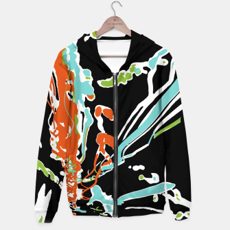 Thumbnail image of Multicolor Abstract Design Cotton zip up hoodie, Live Heroes