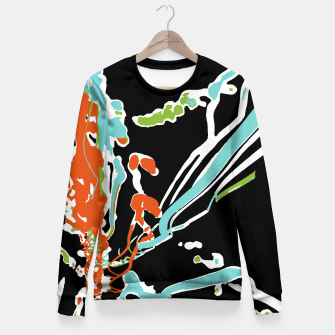 Thumbnail image of Multicolor Abstract Design Woman cotton sweater, Live Heroes