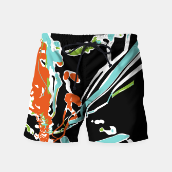 Thumbnail image of Multicolor Abstract Design Swim Shorts, Live Heroes