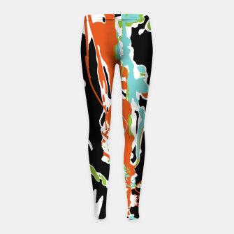 Thumbnail image of Multicolor Abstract Design Girl's leggings, Live Heroes