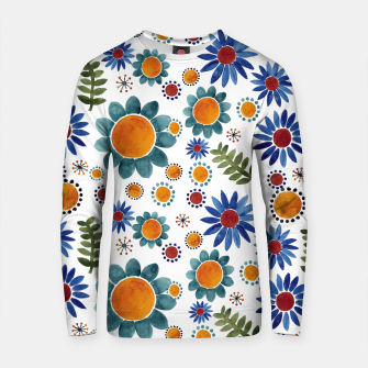 Thumbnail image of Floral garden Cotton sweater, Live Heroes